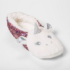 NEW Unicorn sequin Sherpa slipper socks